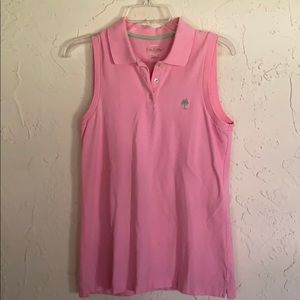 Lilly Pulitzer Women's Pink  Island Polo Shirt M